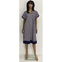 Полосатое платье большого размера из вискозы 52-60 р