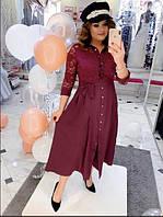Жіноче плаття з поясом, з 48-58 розмір, фото 1
