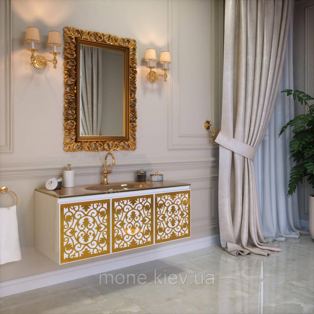 "Комплект мебели в ванную комнату ""Винсент"" (тумба+раковина + зеркало)"