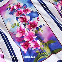 42016 Орхидея (купон). Ткани с цветочным принтом. Квилтинговый хлопок для шитья и рукоделия., фото 1