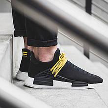 Мужские кроссовки Adidas Pharrell Williams NMD Human Race в стиле адидас нмд черные (Реплика ААА+)
