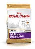 Royal canin MALTESE Adult  корм для собак породы мальтийская болонка в возрасте старше 10 месяцев