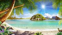 Фотоплитка Панно Остров Пальмы - керамическая плитка фреска Пальмы