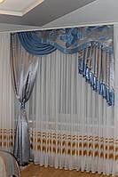 Ламбрекен со шторой с жёстким ламбрекеном №146