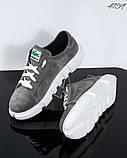 Женские замшевые кроссовки (серый), фото 3