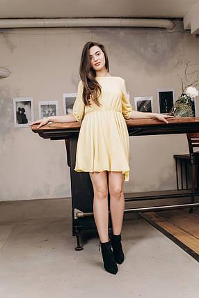 """Приталенное шифоновое мини-платье """"DIDO"""" с расклешенной юбкой, фото 2"""