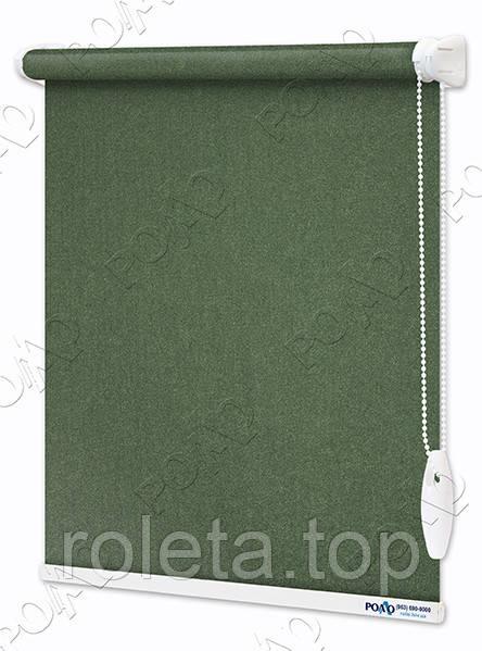 Рулонные шторы Luminis Темно-зеленые Перламутровые