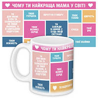 Кружка з принтом Чому ти найкраща мама у світі 330 мл (KR_19F001_UKR)