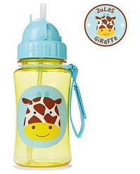 Бутылочка поильник с трубочкой Жираф Скип Хоп Skip Hop Zoo Straw Bottle
