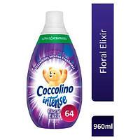Coccolino Intense Floral Elixir кондиціонер для білизни Квітковий еліксир концентрат 64 прання 960 мл, фото 1