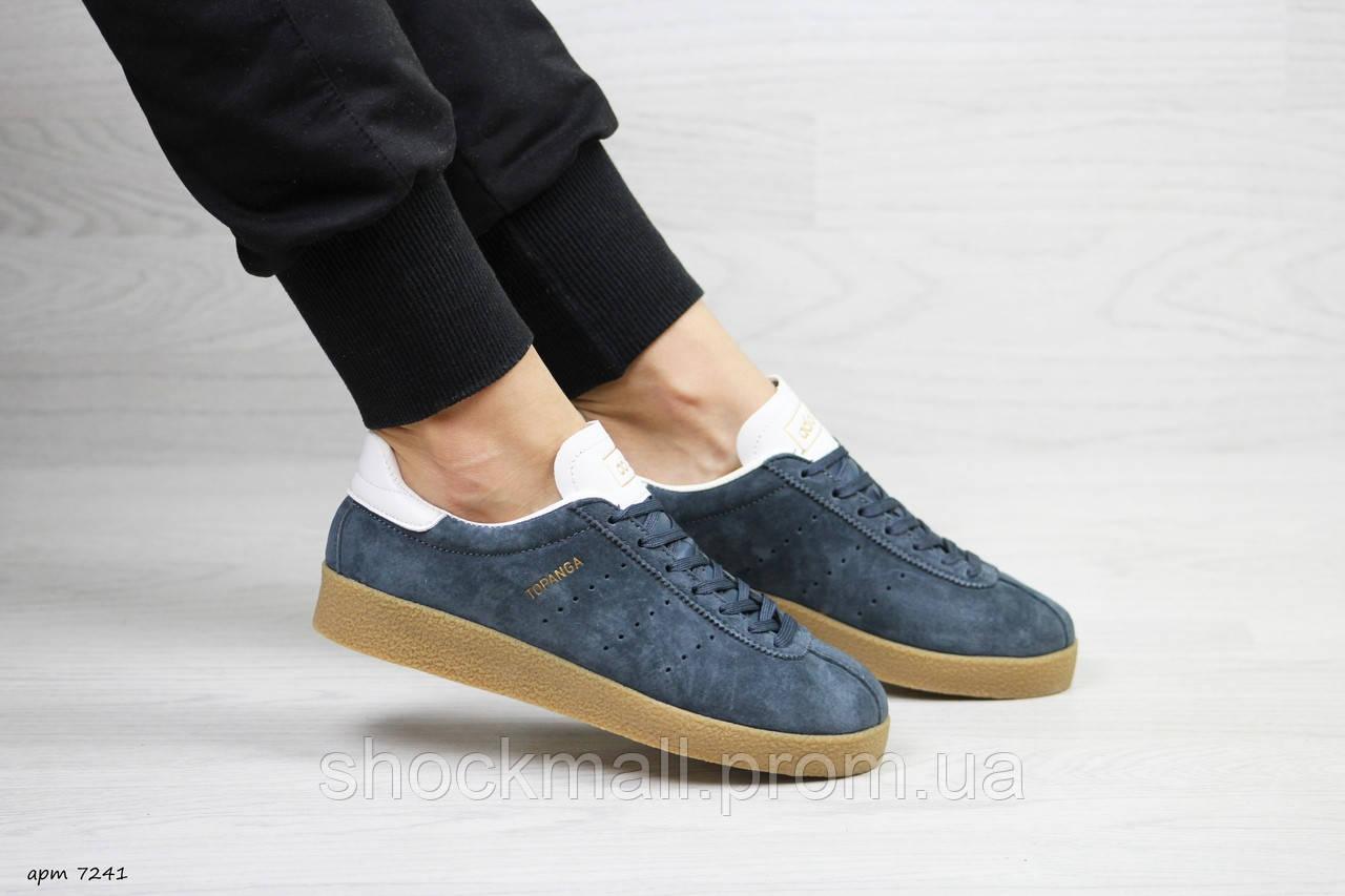 Кеды кроссовки Adidas Topanga подростковые замша синие - Интернет магазин  ShockMall в Киеве 426f97d3fd07d