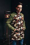 Бомбер мужской Long камо светлый. Топ качество. Живое фото (весенняя куртка), фото 3