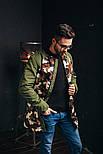 Бомбер мужской Long камо светлый. Топ качество. Живое фото (весенняя куртка), фото 4