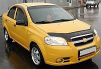 Дефлектор капота (мухобойка) Chevrolet Aveo 2006-2011 T250 sedan, Vip Tuning, CH02