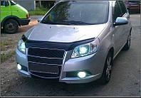 Дефлектор капота (мухобойка) Chevrolet Aveo 2008-2012 T255 hatchback, Vip Tuning, CH13