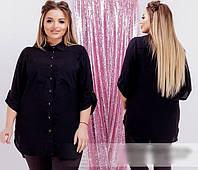 Рубашка женская черная, с 50-60 размер, фото 1