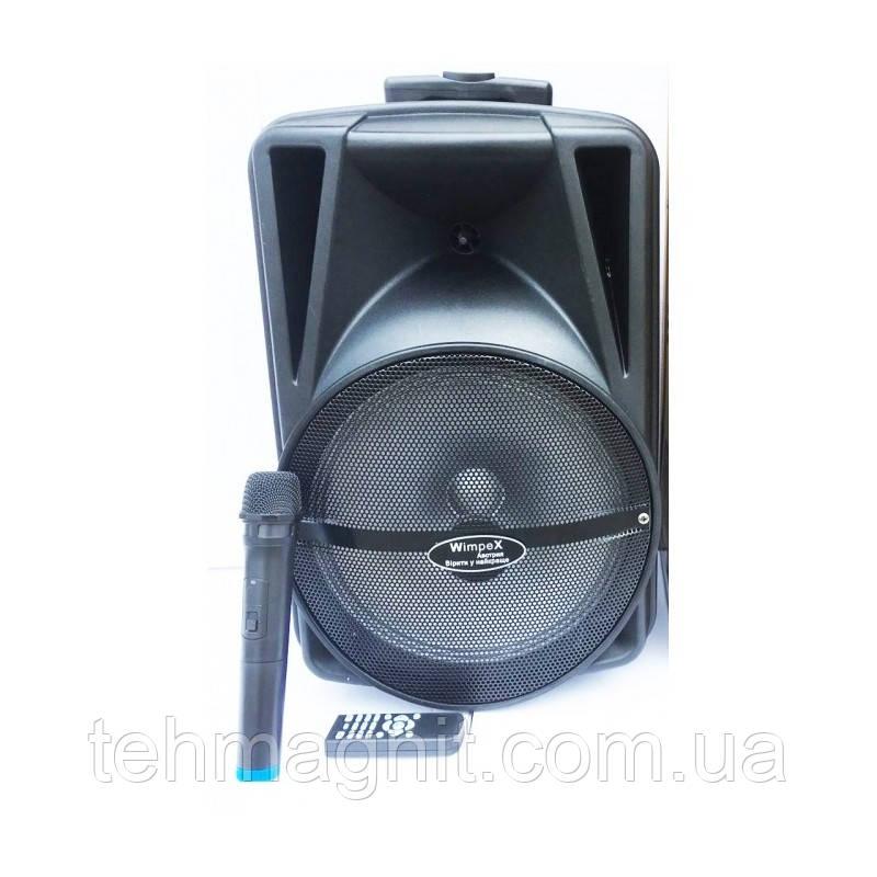 """Колонка з акумулятором Wimpex WX-3078-колонка 12-валіза 60W/ 12"""", Bluetooth, SD+USB, пульт"""