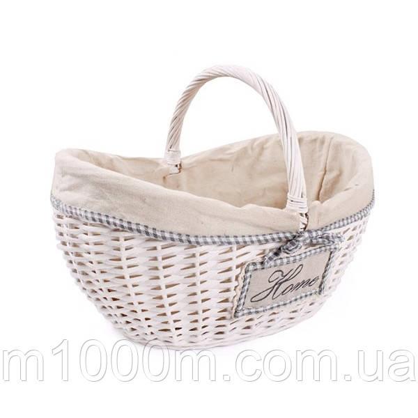 Плетений кошик з тканинним вкладенням 33*45*23/34см