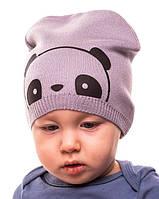 """Детская  шапка для мальчика   """"Мишка """" 2 цвета р.44-48"""