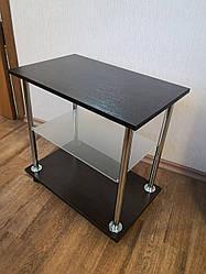 """Столик """"Loco"""" Венге з полицею приліжковий столик для ноутбука або сніданку, на роликах (придиванный)"""