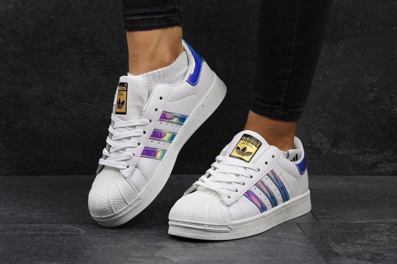 Женские кроссовки Adidas Superstar белые 2733 (кроси теплі взуття спортивне  обувь спортивная) - ☎ bc010ceac8cb6