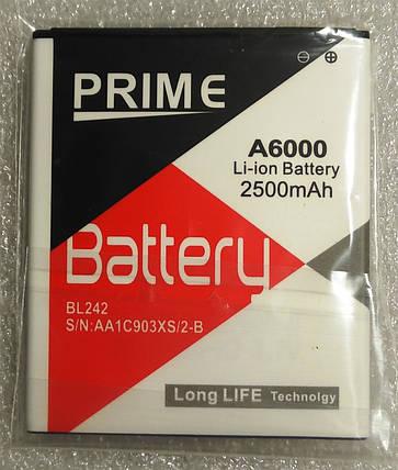 Акумулятор Prime Lenovo BL242 2500 mAh для K30-T, Lemon K3, A6000, фото 2