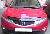 Дефлектор капота (мухобойка) Honda Civic 2006-2011 hatchback 3d-5d, Vip Tuning, HD05