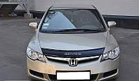 Дефлектор капота (мухобойка) Honda Civic 2006-2012 sedan 4d, Vip Tuning, HD06