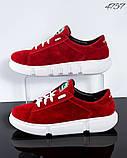 Женские замшевые кроссовки (красный), фото 2