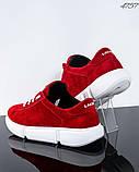 Женские замшевые кроссовки (красный), фото 3