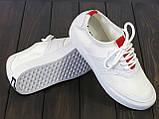 Белые текстильные кеды Lonza FLM91006 WHITE 36 23 см, фото 4