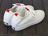 Белые текстильные кеды Lonza FLM91006 WHITE 36 23 см, фото 3