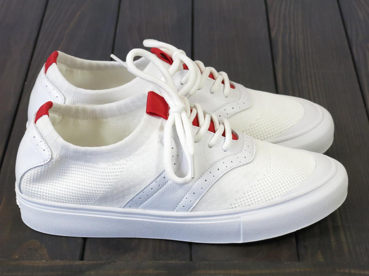 Белые текстильные кеды Lonza FLM91006 WHITE 36 23 см