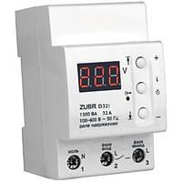 Барьер (реле напряжения) D32t 32А DIN с тепловой защитой ZUBR