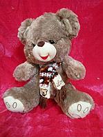 Веселый Мишка 38 см плюшевая мягкая игрушка медведь в шарфе