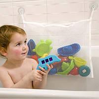 Сетка органайзер на присосках для игрушек в ванную.