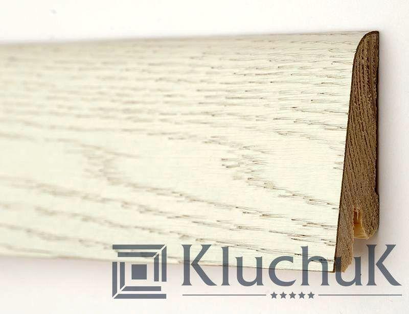 Плінтус Kluchuk Рустик KLR80-03 Дуб Арктик 80мм