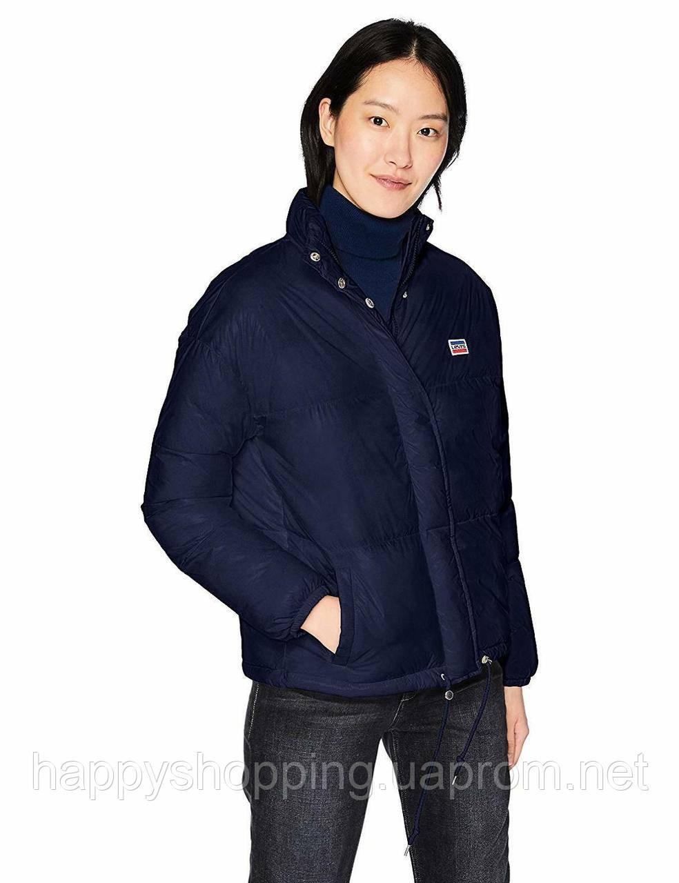 Женская синяя оригинальная куртка весна осень популярного американского бренда Levi's