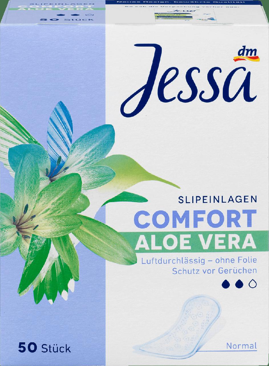 Ежедневные гигиенические прокладки Jessa Normal Aloe Vera-2 капли, 50 шт.
