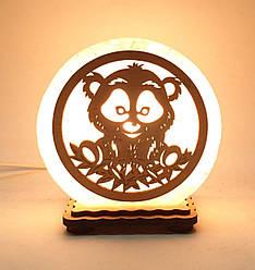 """Соляна лампа маленька кругла """"Панда"""""""