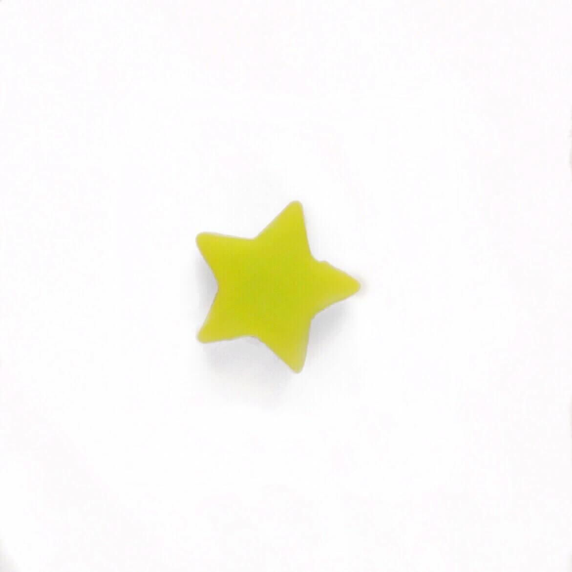 Мини звездочка (салатовый) бусина из пищевого силикона