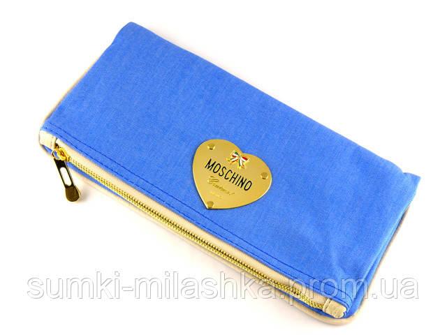 Джинсовый модный клач Moschino Москино, сумки джинсовые недорого