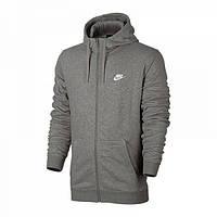 Толстовки и свитера мужские Толстовка Nike M NSW HOODIE FZ FT CLUB  804391-063( 096ff6cbca381