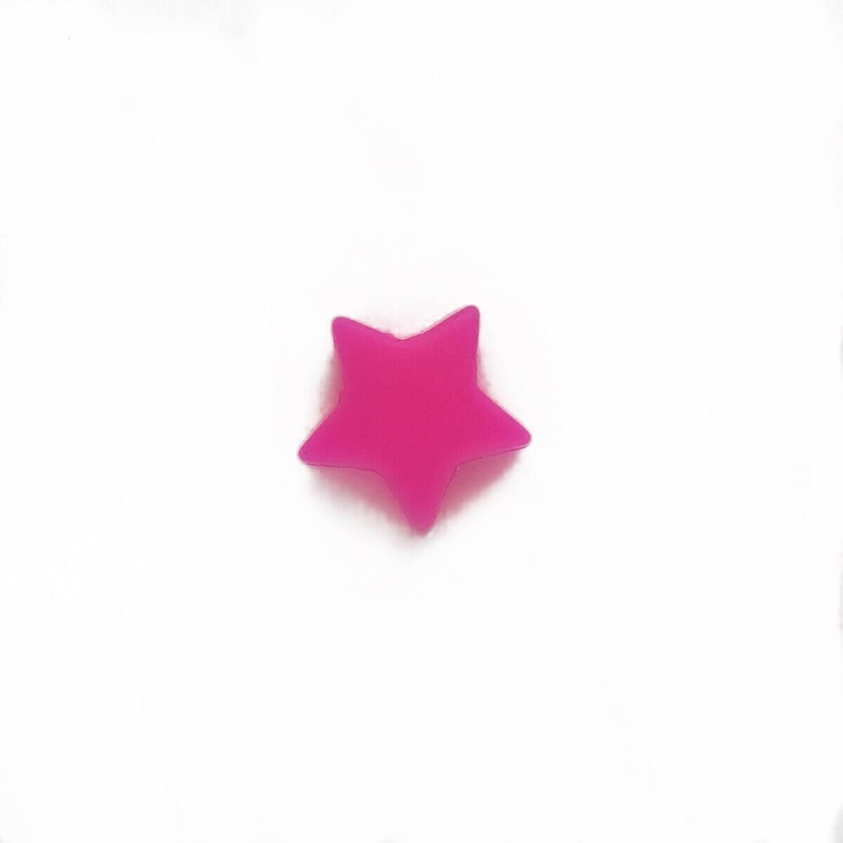 Мини звездочка (малина) бусина из пищевого силикона