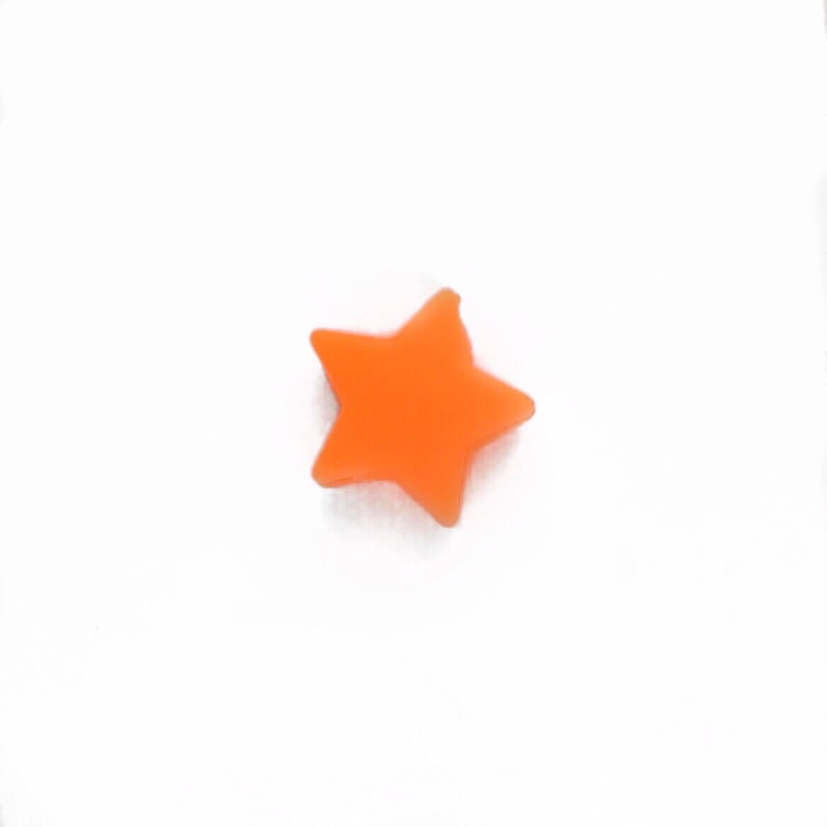 Мини звездочка (оранжевая) бусина из пищевого силикона