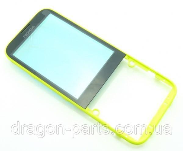 Передняя панель Nokia  225 желтая оригинал , 02507G4