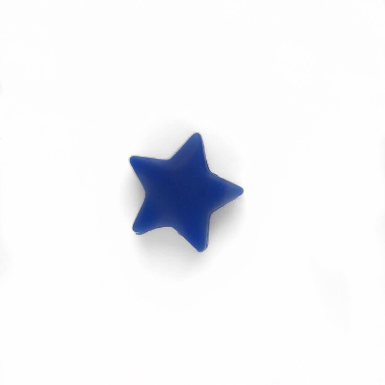 Мини звездочка (темно синяя) бусина из пищевого силикона