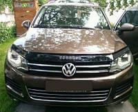 Дефлектор капота (мухобойка) Volkswagen Touareg II 2010-2018, Vip Tuning, VW63