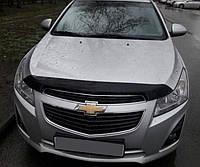 Дефлектор капота (мухобойка) Chevrolet Cruze 2009-2015, SIM, SCHCRU0912