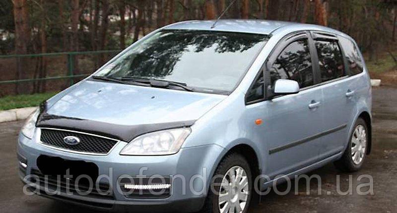 Дефлектор капота (Люкс!) мухобойка Ford C-Max 2003-2006, SIM, SFOCMA0312